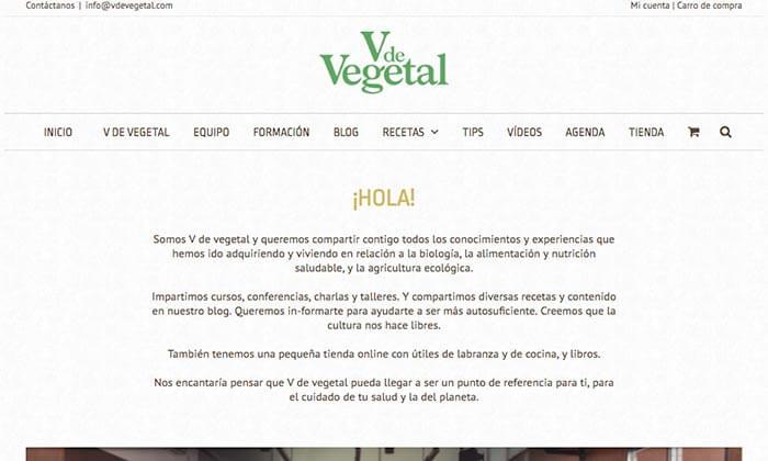 V de vegetal