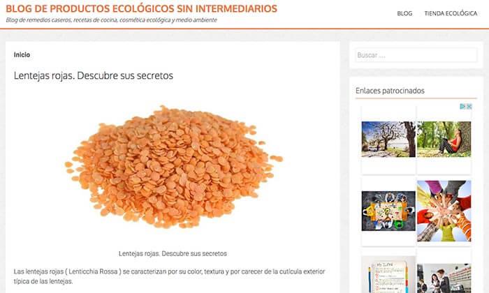 blog de Productos ecológicos sin intermediarios
